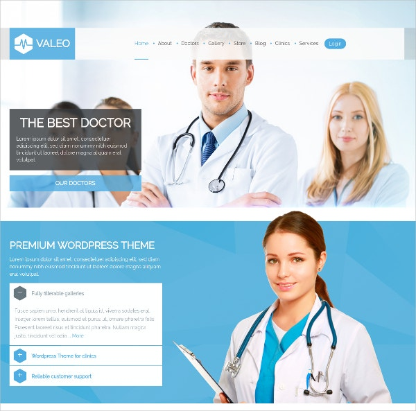 responsive medical health care website theme 49