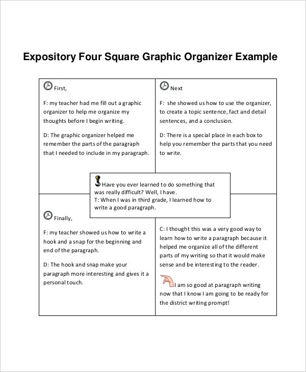 expository four square writing template