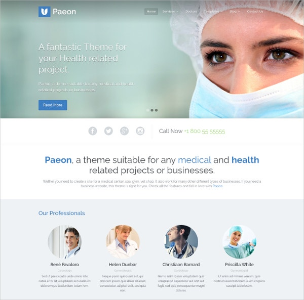 Medical & Beauty WordPress Website Theme $49