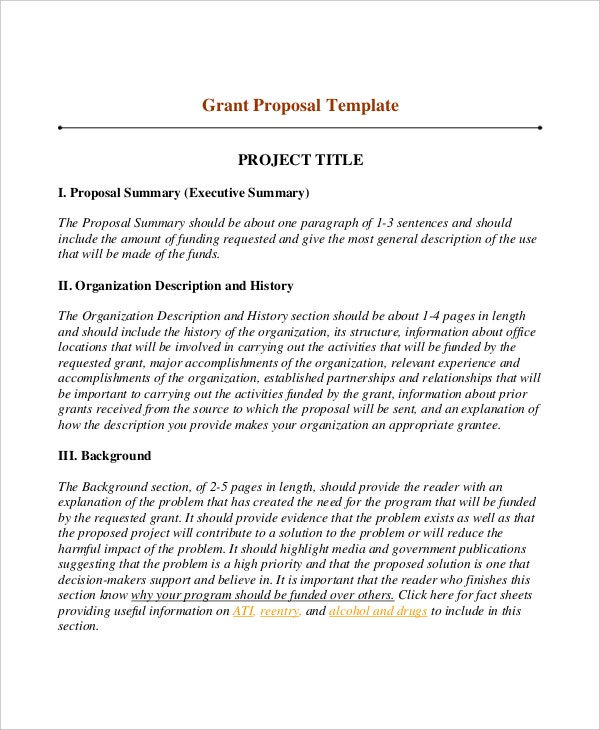 Grant Proposal Writing Template Download