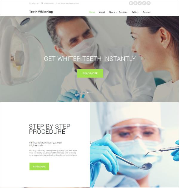 teeth whitening medical website template 69