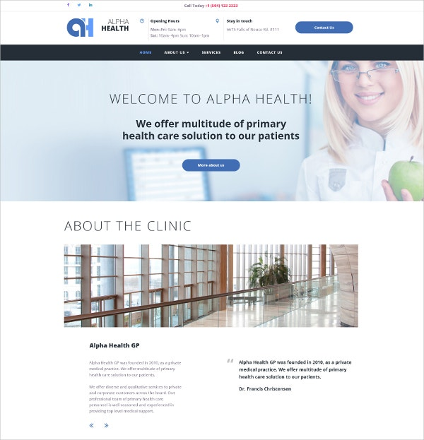 Medical Responsive Moto CMS 3 Website Template $199