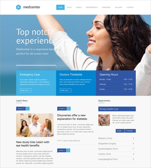 Responsive Medical Pharmacy WordPress Website Theme $59