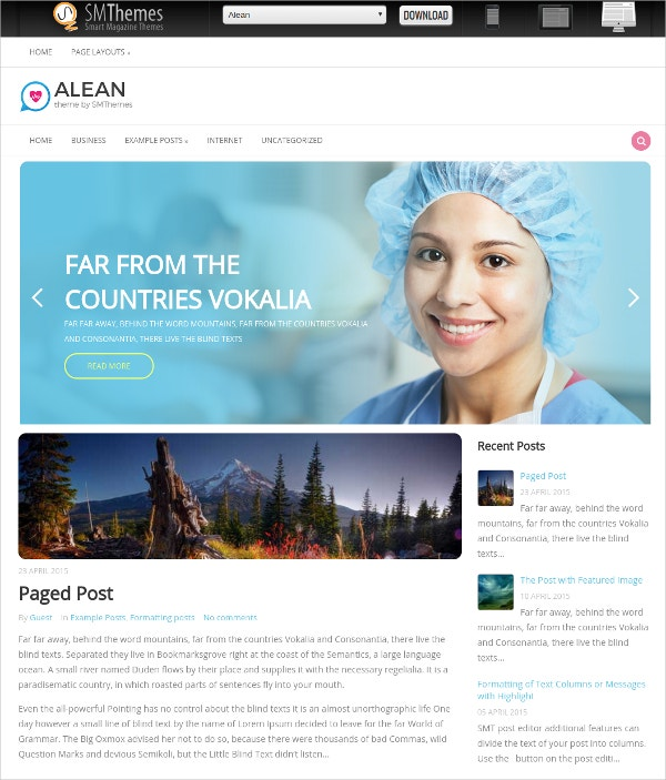 Medical Practice WordPress Weebsite Theme