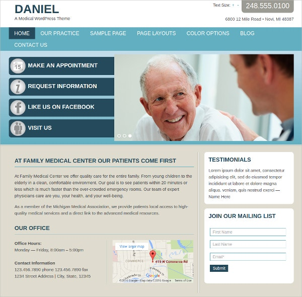 Physician Medical WordPress Website Theme