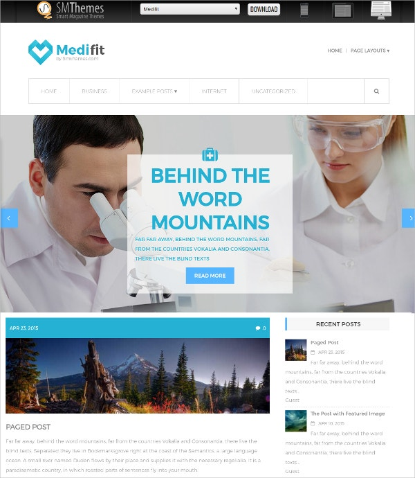 Free Health Care WordPress Website Theme