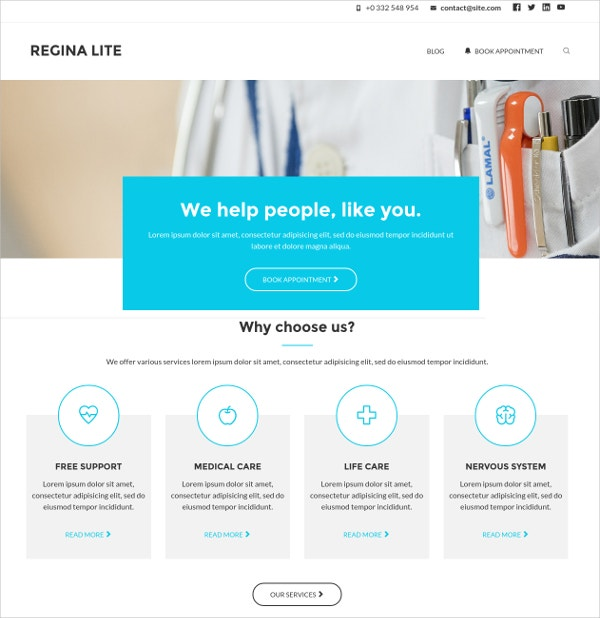 Perfect Free Medical Website Theme