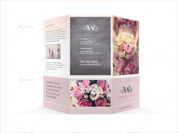 wedding planner trifold brochure