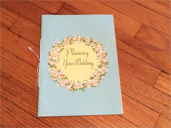 vintage wedding planner brochure