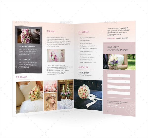wedding planner bifold brochure
