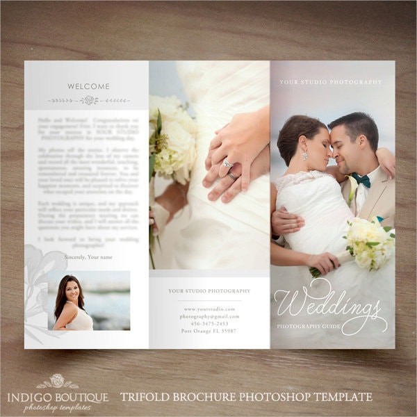 Wedding Photography Trifold Brochure