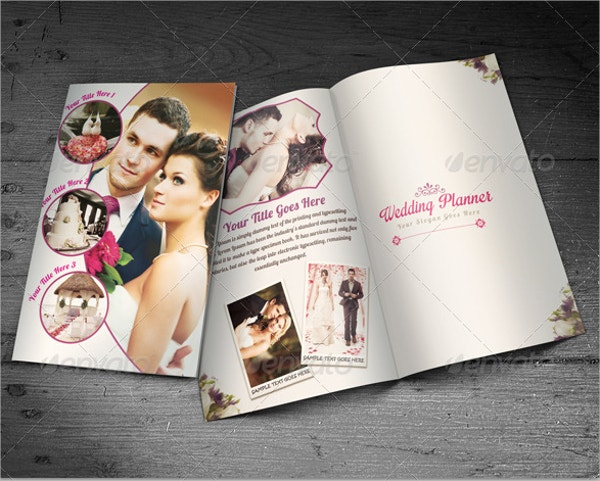 wedding planner half fold brochure