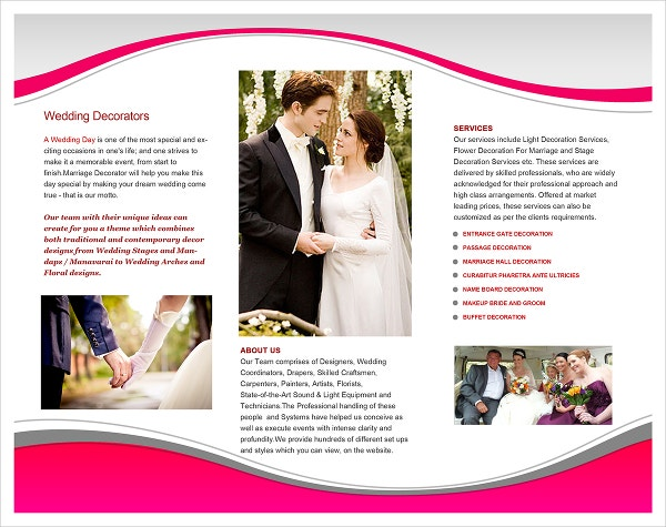 Simple Wedding Planner Brochure