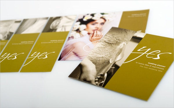 yes wedding planner brochure