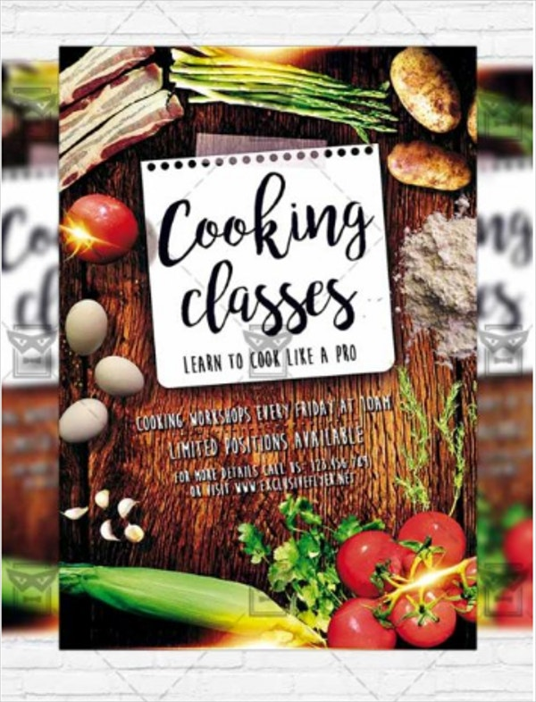 culinary cooking flyer