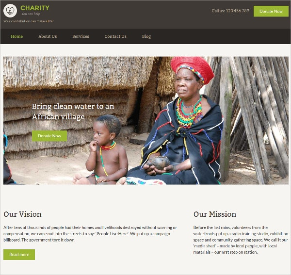 Premium Charity Nonprofit WordPress Website Theme