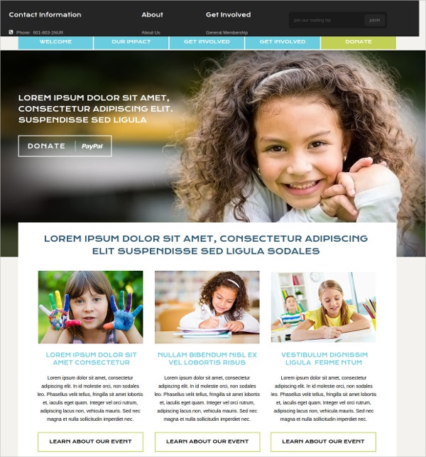 Muse NonProfit Organization website Theme