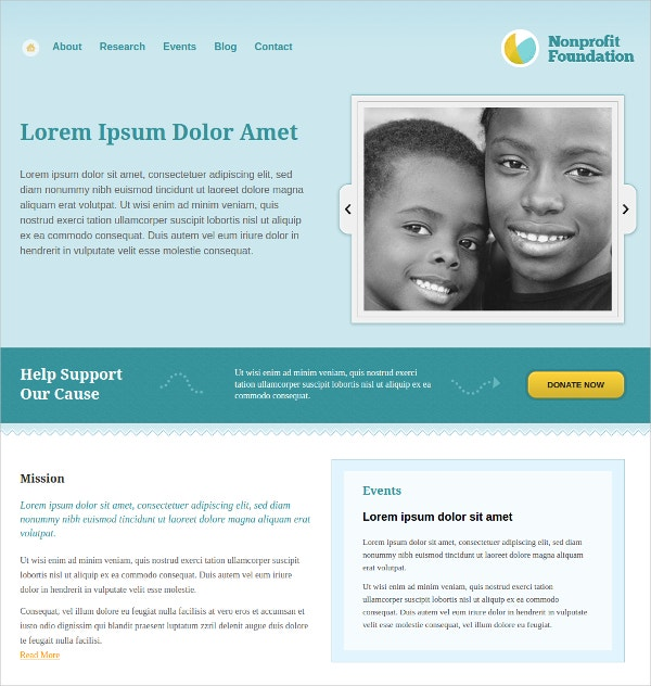 Foundation Non Profit WordPress Website Theme
