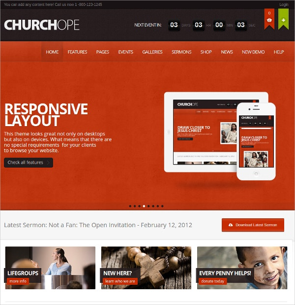 Non profit WordPress Website Theme $49