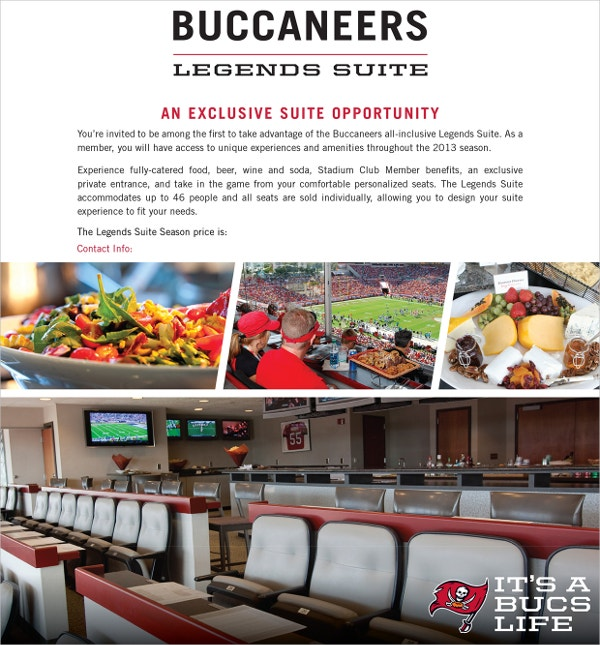 Buccaneers Luxury Flyers