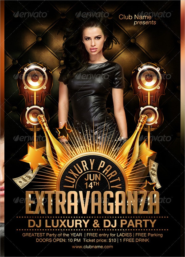 extravaganza luxury flyer template
