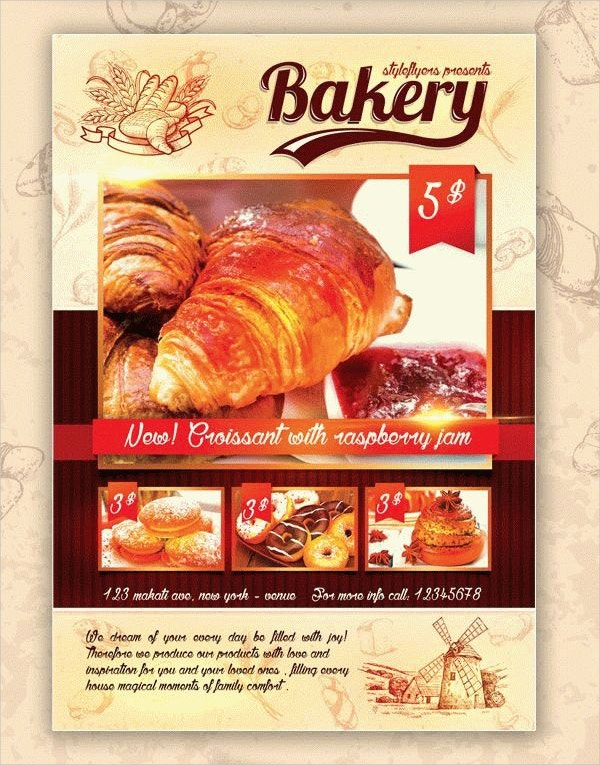 Bakery Flyer Templates Free PSD AI EPS Format Download - Bakery brochure template