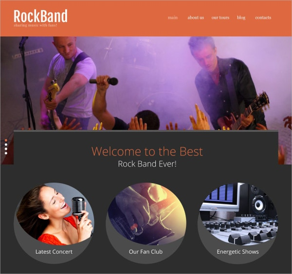 Rock Band Website Template $69
