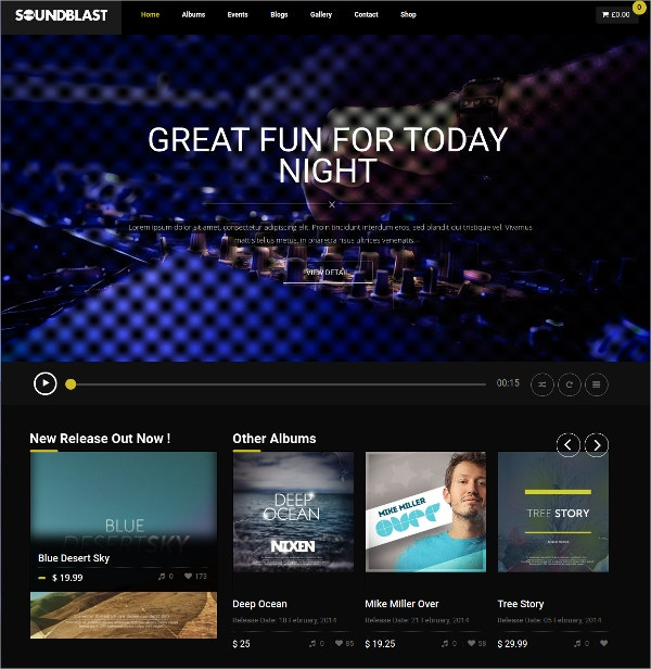 Music Band & Musicians WordPress Website Theme $59
