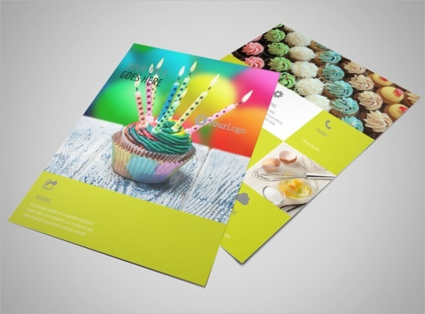 Cake Shop & Bakery Flyer Template