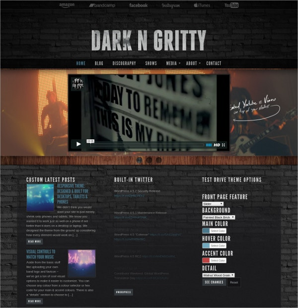 Musician & Band Artist WordPress Website Theme