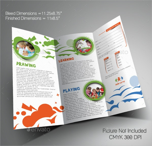 Summer Camp Brochures Free PSD AI EPS Format Download - Word templates for brochures