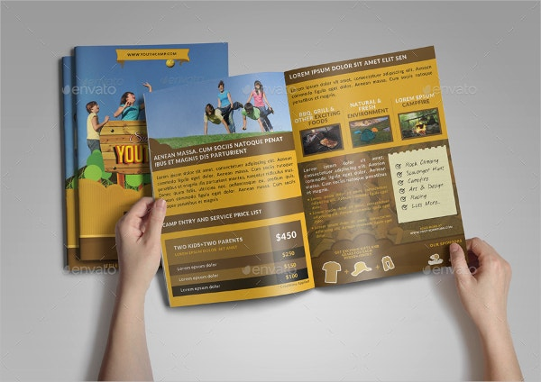 Summer Youth Camp Bifold Brochure