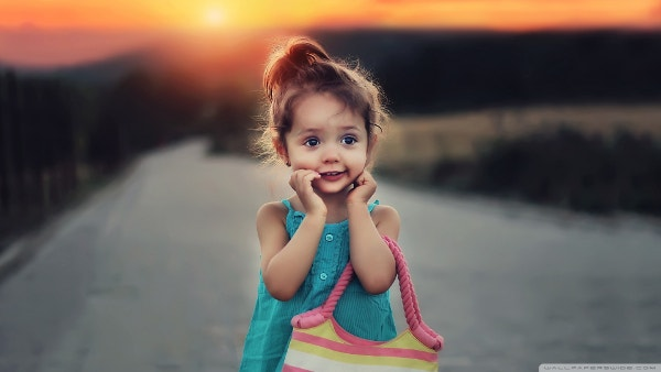 Cute Stylish Child Girl Wallpaper