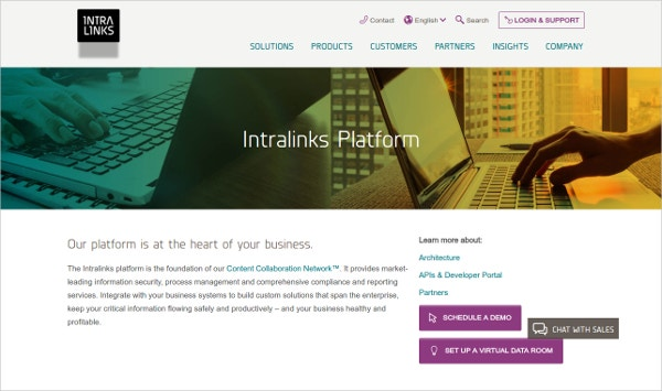 Intralinks Platform Security Tool
