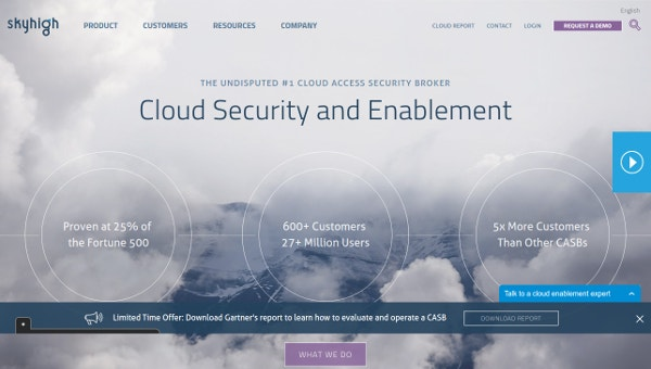 Sky High Networks Cloud Security and Enablement