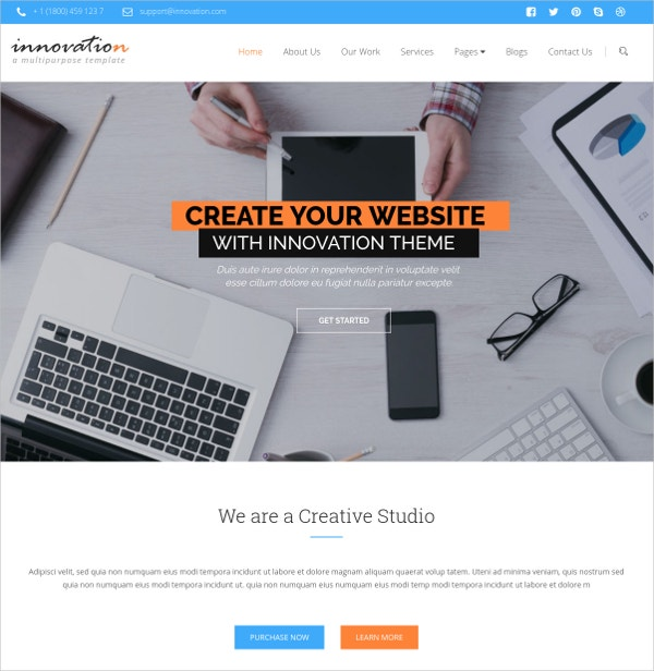 innovative bootstrap multipurpose website template 17