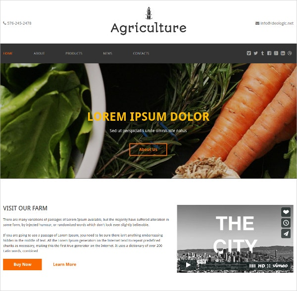 agriculture one page bootstrap website theme 12