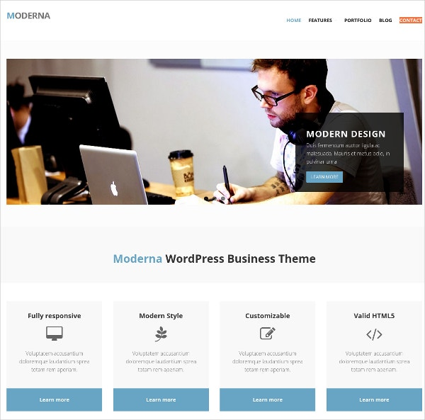 modern bootstrap website theme