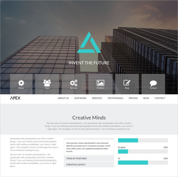 One Page Bootstrap Website Template $6