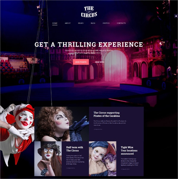 best circus joomla bootstrap website template 75