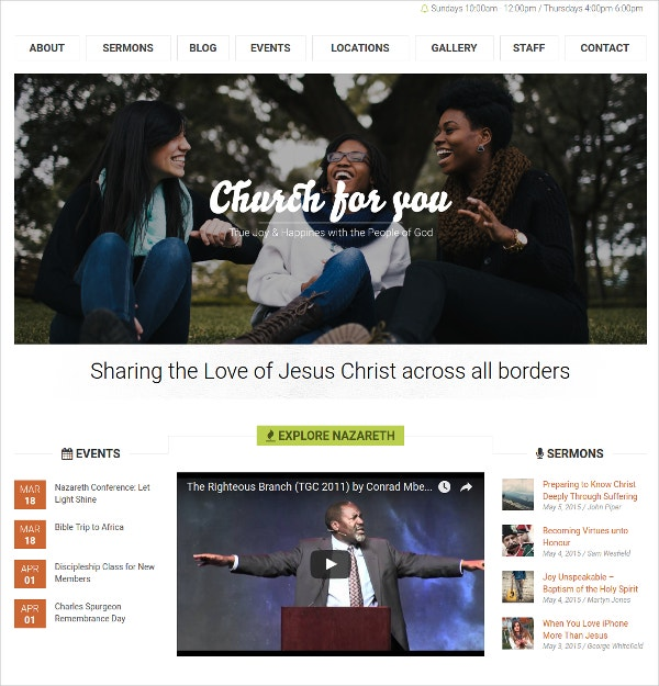 church bootstrap website theme 49