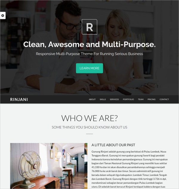 clean multipurpose bootstrap website theme 11