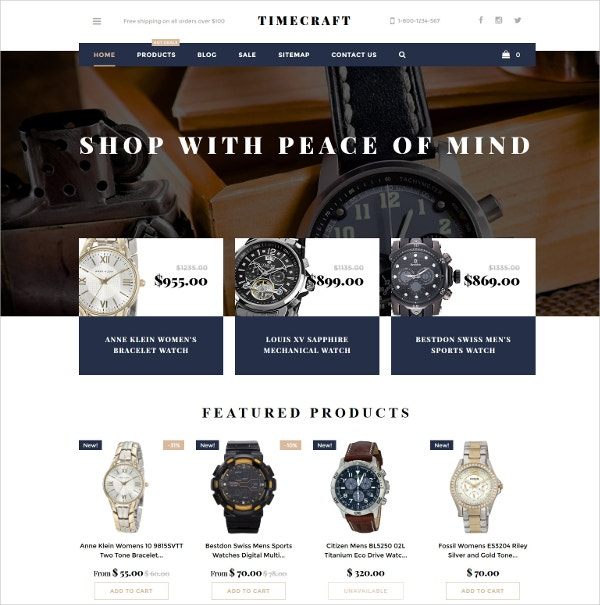 watches store bootstrap website theme 139