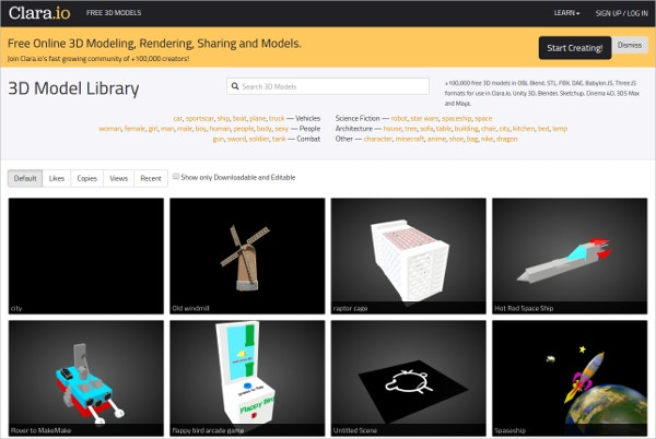 Seven Website for Free 3D Models for Designers | Free & Premium