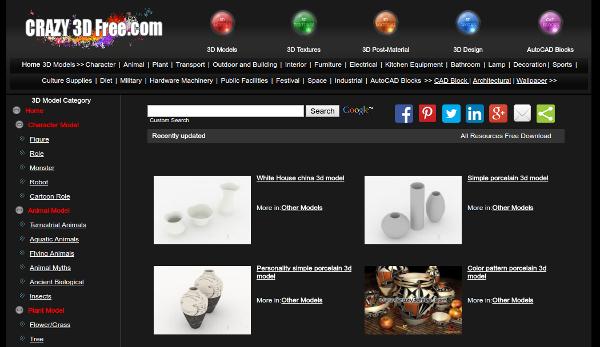 Seven Website for Free 3D Models for Designers | Free & Premium