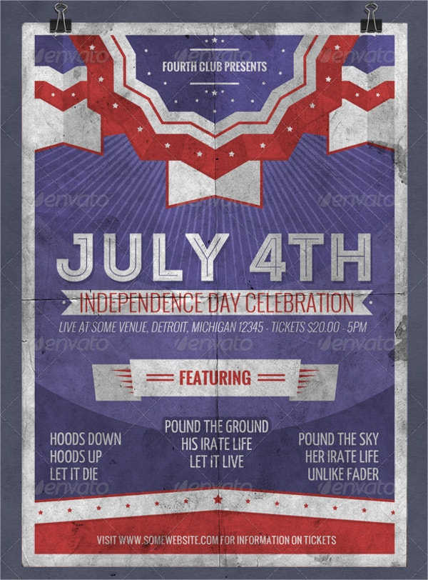 Fourth of July Celebration Flyer