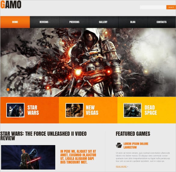 Gaming Portal Responsive WordPress Website Theme $53