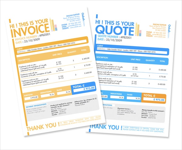 Quotation Templates  Free Sample Example Format  Free