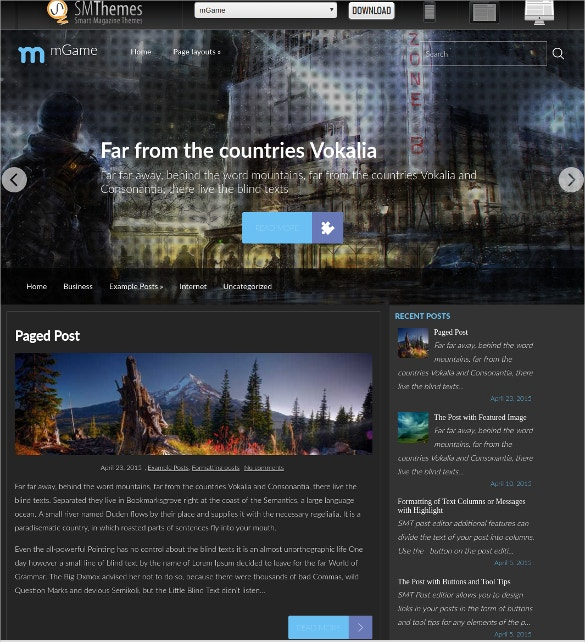 Free World Of Gaming Website Theme