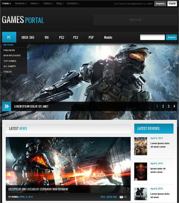 Special Game Portal Website Template $75